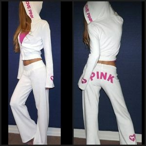 PINK Victoria's Secret Sweaters - Victoria's Secret VS PINK French Terry Hoodie Pant